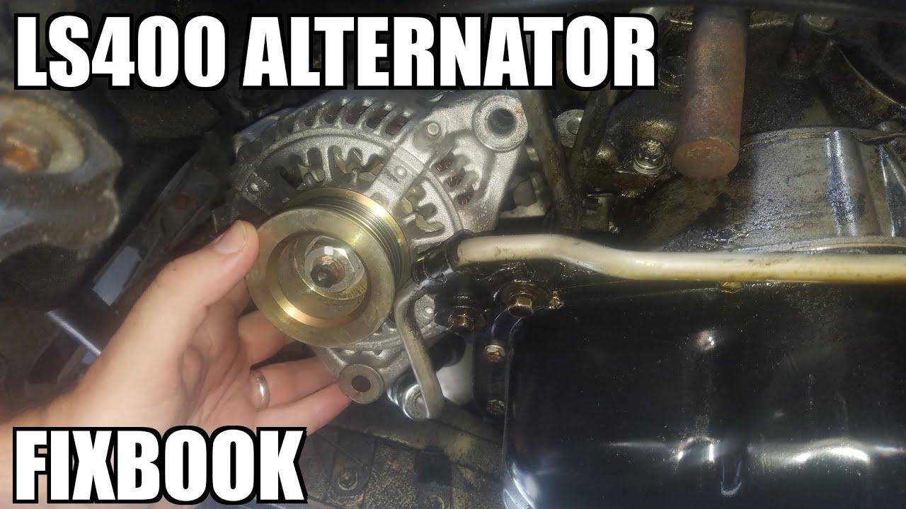 alternator 95 00 lexus ls400 replacement how to  [ 1280 x 720 Pixel ]
