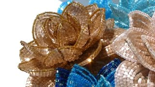 """""""Сновидение"""". Урок 4 - Камелия из бисера, плетение / """"Dream"""". Lesson 4 - Beaded camellia, weaving"""