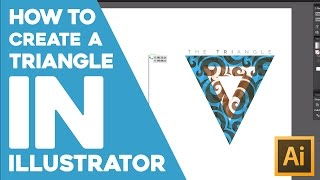 How to create a vector triangle in Adobe Illustrator. (1080p)