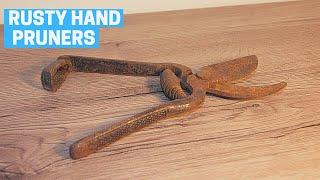 Rusty Hand Pruners / Secateurs  Restoration