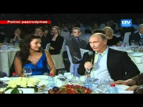Rusijos ministras pirmininkas Vladimiras Putinas labdaros renginyje uždainavo angliškai