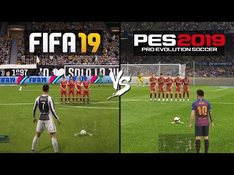 FIFA 19 Vs PES 19 Gameplay Comparison