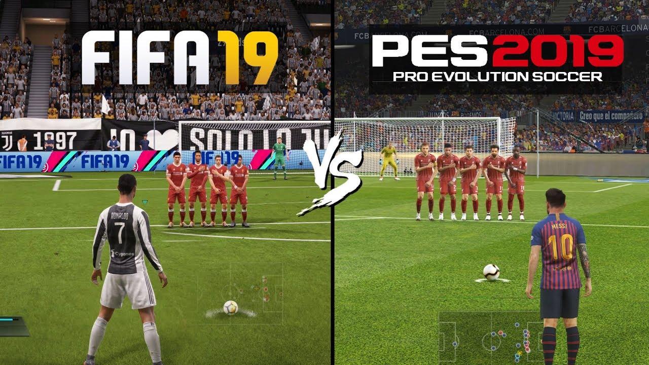 FIFA 19 vs PES 19 Gameplay Comparison