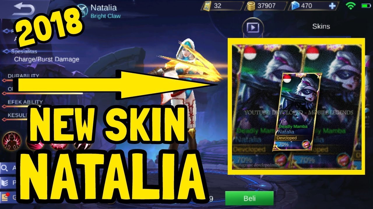 Amoney Basketball Sipitgaming Hd New Skin Natalia Deadly Mamba 2018 Mobile Legends Indonesia