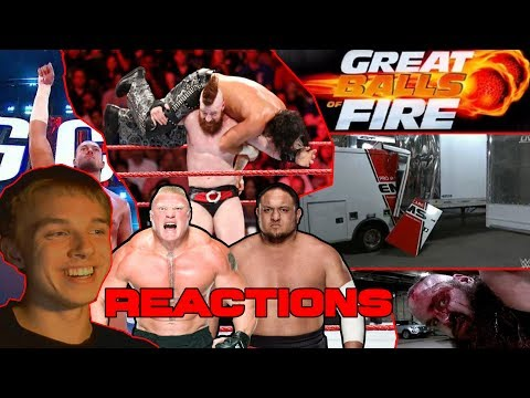 WWE Great BALLS of FIRE 2017 REACTIONS MarcSarpei