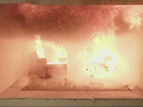 Staged Fire Shows Potential Christmas Tree Risks