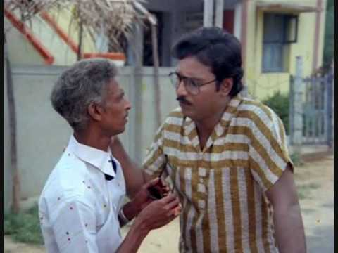 Classic Tamil Movie Scene - Bhagyaraj flirting with neighbor's young wife in Chinna Veedu