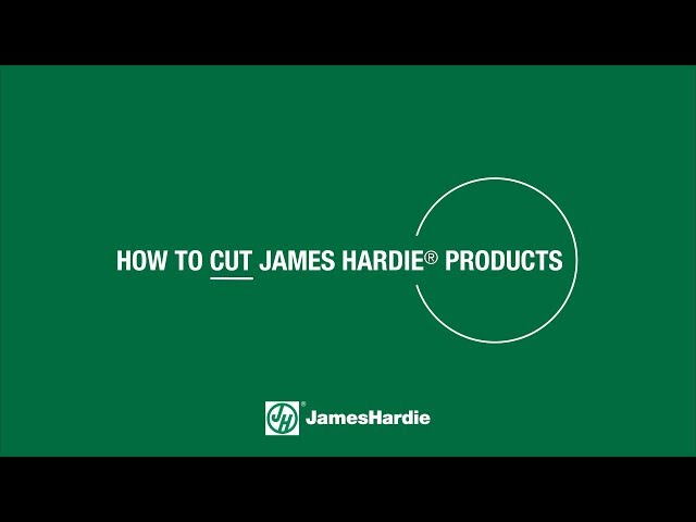 How to Cut James Hardie® Products - HardieTrim