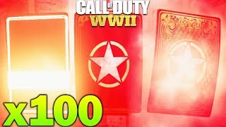 x100 Rare Supply Drops - Heroic Supply Drop Opening COD WW2 Supply Drops