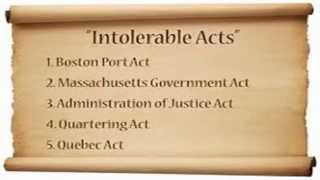 Histrivia #5-Boston Tea Party 1773 & Intolerable Acts of 1774