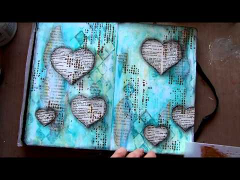 Art Journal page - Life On Hold