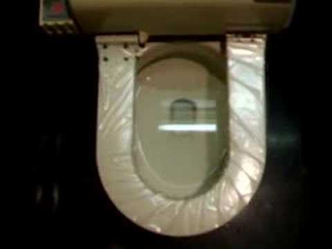 Automatic Toilet Seat Cover   YouTube. Plastic Toilet Seat Covers. Home Design Ideas