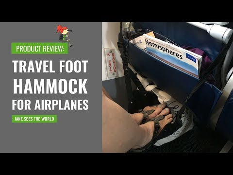 Travel Product Review: Airplane Foot Hammock