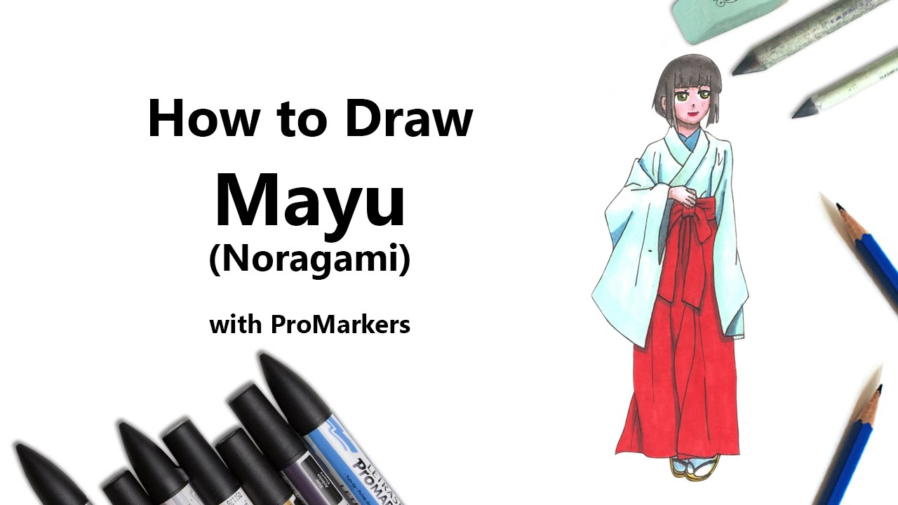 How To Draw And Color Mayu From Noragami With Promarkers Speed