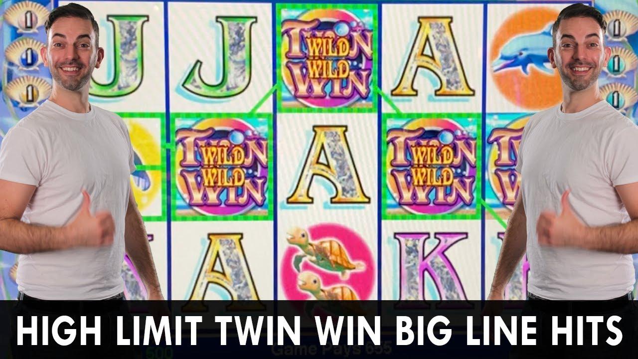 🎰 HIGH LIMIT TWIN WIN 👯 BIG Line Hits = DOUBLE UP 🤑 5 Trigger BONUS WIN