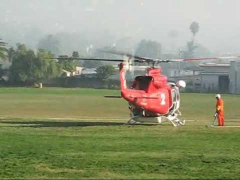 Water Fill Up  Helicopter Tea Fire Santa Barbara Junior High School