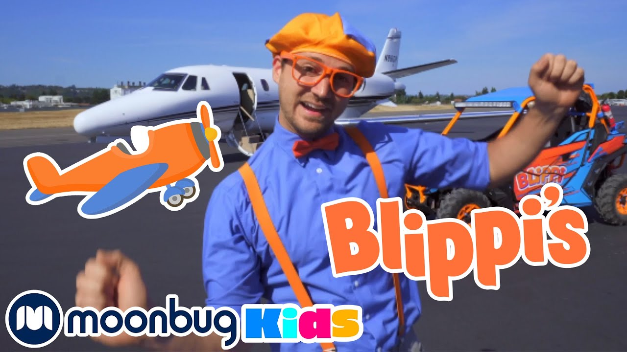 Learn About Planes - Learn, Sing and Dance - Blippi | Kids Cartoons & Nursery Rhymes | Moonbug Kids