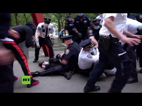 Decenas de personas arrestadas en Nueva York en una protesta