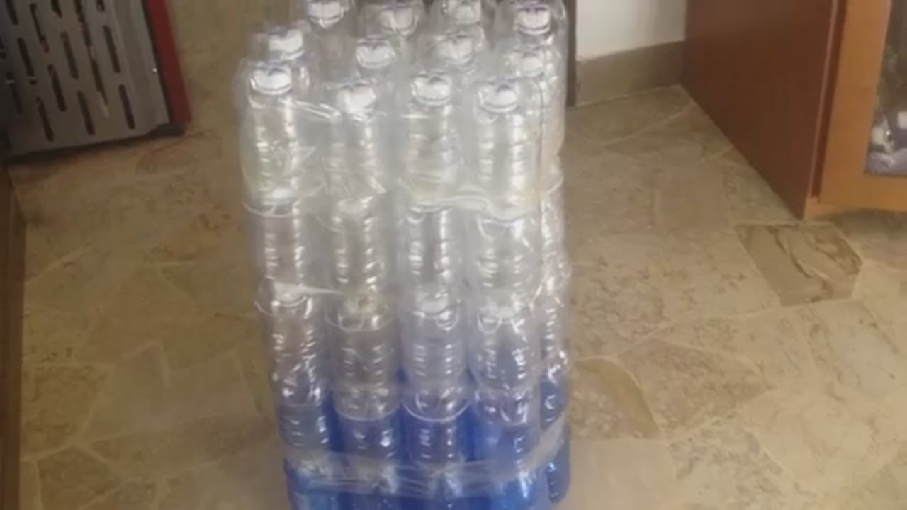 Come fare una poltrona con bottiglie di plastica sedia da