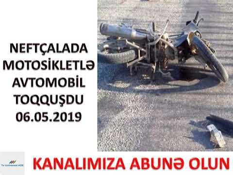 Neftçala Bankə qəsəbəsində motosikletlə avtomobil toqquşdu 06.05.2019