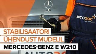 Kā nomainīt MERCEDES-BENZ E W210 priekšējo stabilizatora statn [PAMĀCĪBA]