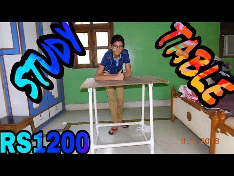 How to make a study table using PVC pipe in Hindi
