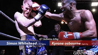 Simon Whitehead (K Star Legacy) v Kyrone Osbourne (Fight City)