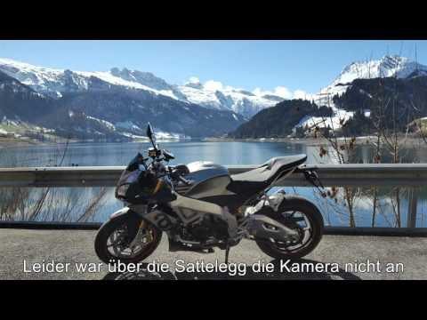 First trip to central Switzerland with my new Aprilia Tuono V4 1100 RR. Pure sound.