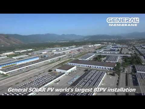General Solar PV: World's largest BIPV installation