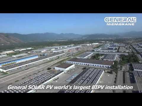 General Solar PV: World's largest BIPV installation