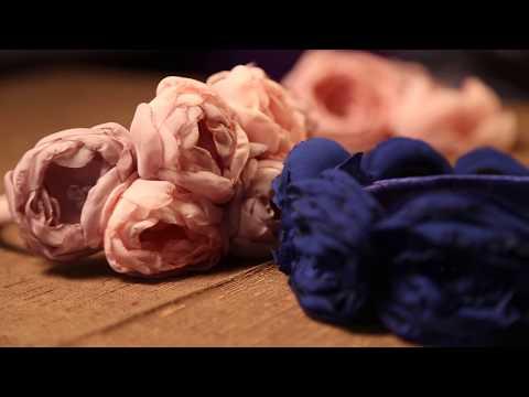 Цветы своими руками из шифона мастер класс