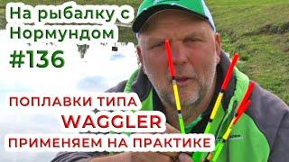 Поплавки типа WAGGLER - применяем на практике На рыбалку с Нормундом 136
