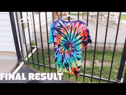 How To Make A Black Spiral Tie Dye T-shirt