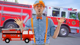 Blippi Learns Trucks at the Fire Station and More | Educational Videos for Toddlers