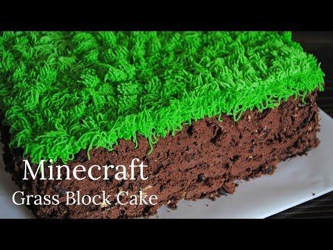 Super Easy Grass Block Minecraft Cake Recipe - Adventures of Mel