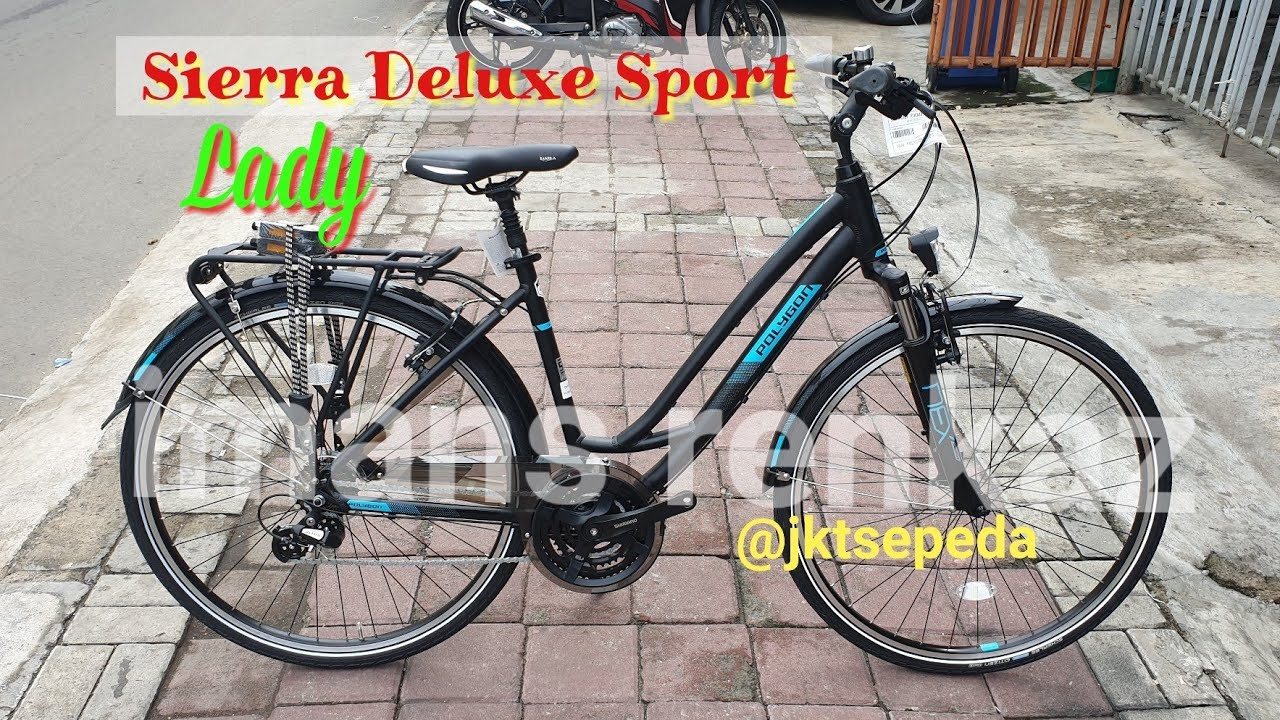 Review Sepeda Polygon Sierra Deluxe Sport Lady Youtube