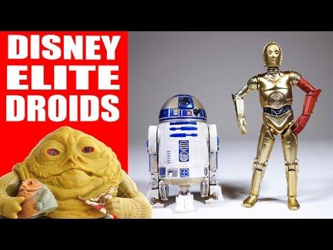 Disney Elite Series Die Cast Droids Figures (C-3PO and R2-D2)
