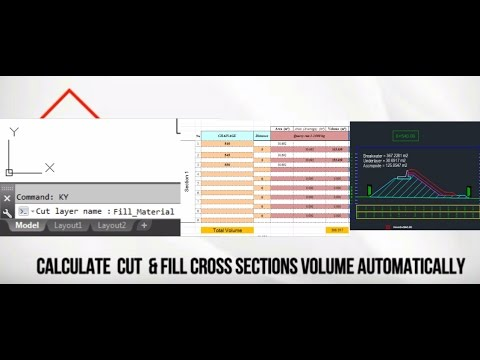 Download Free Lisp to Calculate Cut Fill Automatically to Excel