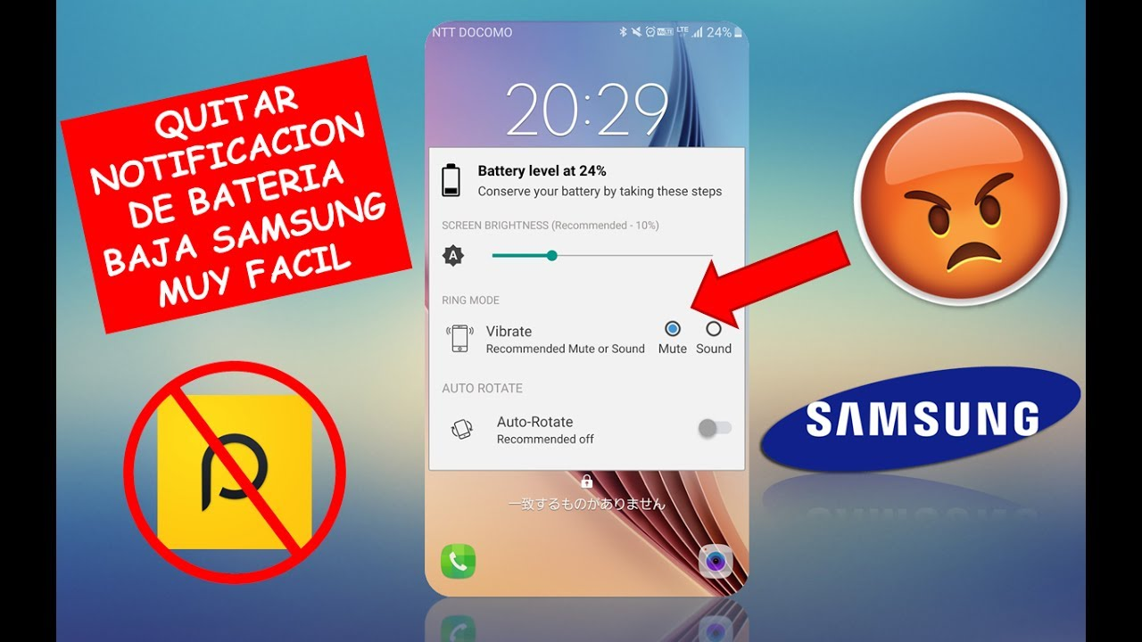 samsung notifica batteria