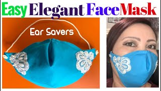 186 How To Make The Best Fitted Summer Face Mask With Ear Savers The Twins Day Face Mask Tutorial
