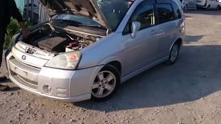 Видео-тест автомобиля Suzuki Aerio (Rd51s-150446, M18A, серебро, 2004г)