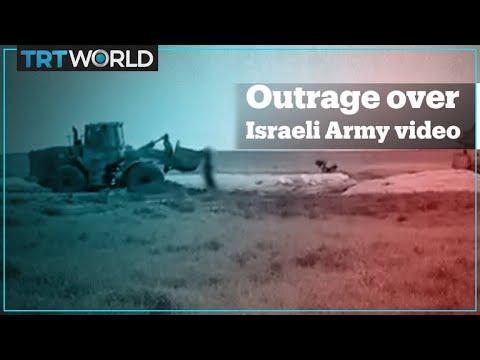 Outrage As Israeli Forces Kill Palestinian, Use Bulldozer To Seize His Body