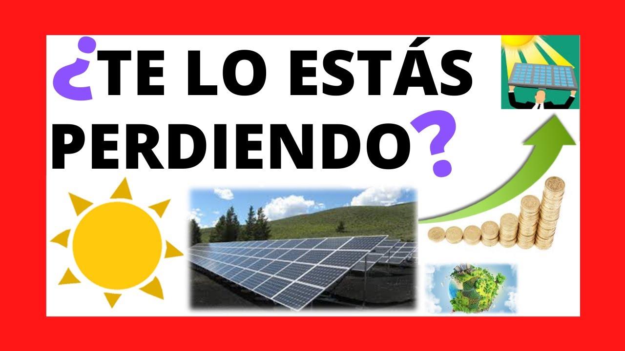 ☀️ ¿Invertir en ENERGÍA SOLAR en Junio 2020? ☀️