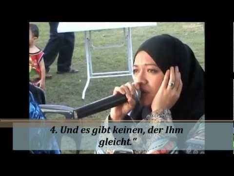 Quran deutsche übersetzung - Sharifah Khasif Fadzilah Syed Badiuzzaman (aus Malaysia)