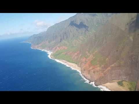 Helicopter Flight Over Kauai, Hawaii
