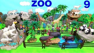 Wild Zoo Animal Toys For Kids - Learn Animal Names and Sounds - Learn Colors