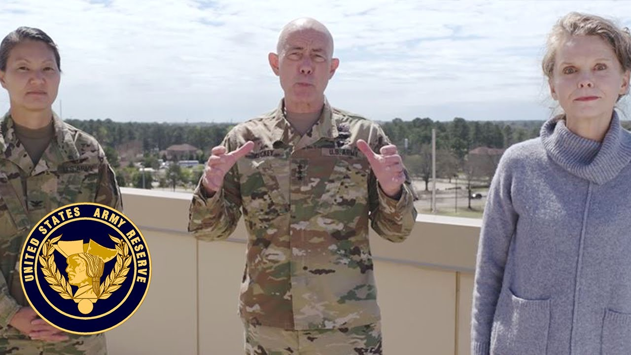 Lt. Gen. Luckey, Mrs. Luckey and Col. Reed offer COVID-19 guidance to Army Reserve Families
