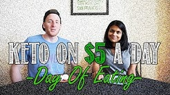 Eating Keto on a Budget | We Eat a Keto Diet for 5 Days on $5 Dollars a Day | Day of Eating Video