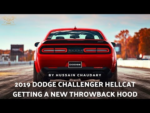 2019 Dodge Challenger Hellcat getting a new throwback hood | 2019 Official Teaser