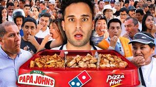 100 PERSONAS ELIGEN LA MEJOR PIZZA!! 🍕 Pizza Hut vs Papa Jhons vs Dominos